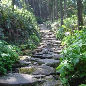 馬越峠の石畳